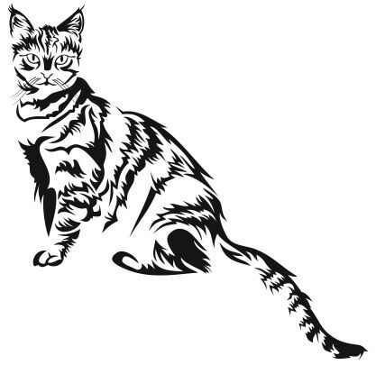 SITTING LITTLE SMALL CAT KITTEN DECAL VINYL STICKER WALL WINDOW TRUCK CAR Nr63
