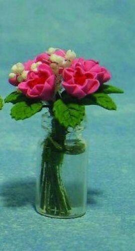 Casa De Muñecas En Miniatura Florero De Rosas de elección de colores 12 Escala
