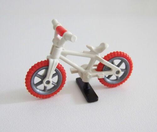 ENFANTS 1534 Vélo Blanc /& Orange avec Support Noir PLAYMOBIL