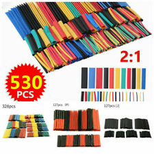 127328530pc Heat Shrink Tubing Sleeve Cable Wire Wrap Tube Assortment Kit Set