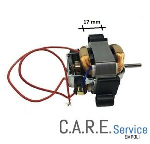 Motore Phon 230V 132W Universale pacco 17 mm con attacchi plastica. h alb.20mm
