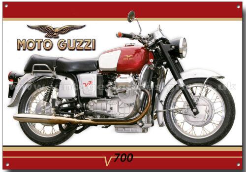 MOTO GUZZI V700 MOTORCYCLE METAL SIGN.(A3 SIZE) CLASSIC MOTO GUZZI MOTORCYCLES.