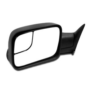 Details about 94-01 DODGE RAM 1500 2500 3500 TOWING EXTENDABLE MANUAL  MIRROR DRIVER LEFT SIDE