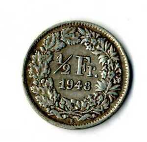 Moneda-Suiza-1948-B-1-2-medio-franco-suizos-plata-835-silver-coin-Helvetia