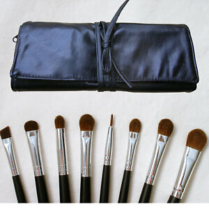 8 pc pro full size eye eyeshadow makeup brush set kit w
