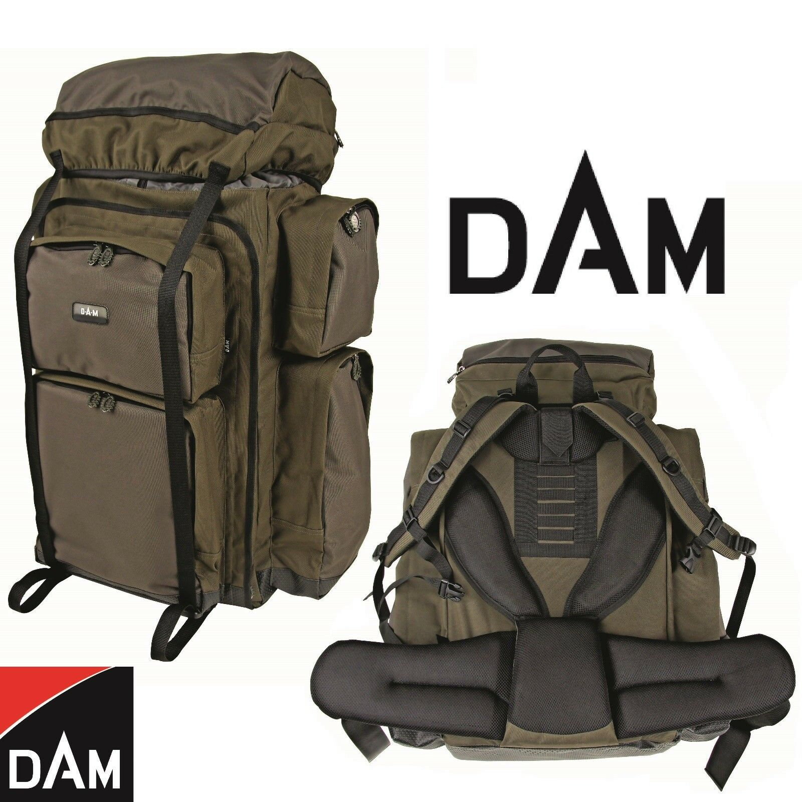 DAM Outdoor Back Pack - Großer Angel und Wander Rucksack   Angeltasche