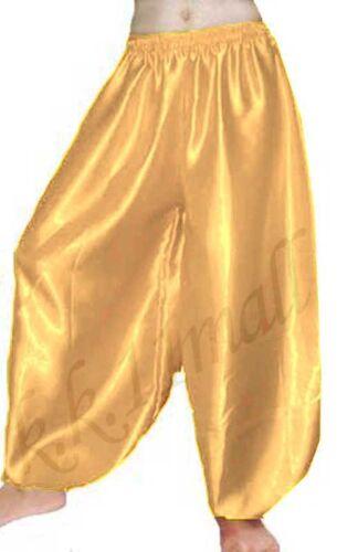 Satin Harem Pant Boho Aladdin platoons Belly Dancing BOHO Harem Pant Elastic S10