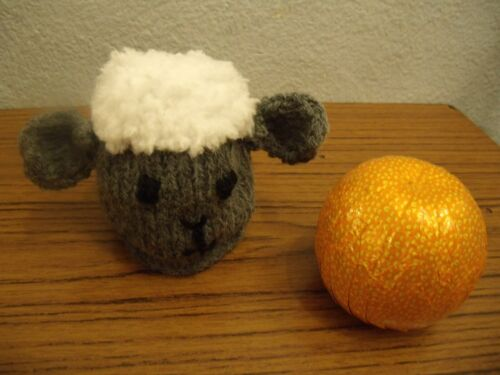 Easter Sheep Chocolate Orange Cover knitting pattern AND WOOL