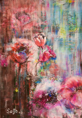 Abstract Acrylic Painting Original Painting Abstract Flower Painting Wall Art Ebay
