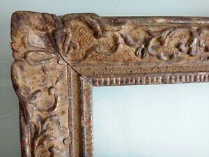 Grand-cadre-montparnasse-bois-et-stuc-dore-83cm-x-71cm-Antique-frame-wooden-XIX