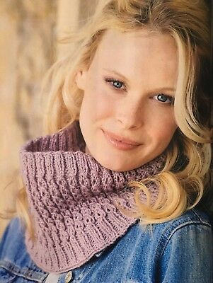 KNITTING PATTERN Ladies Textured Cowl Twisted Mock Cable Scarf Winter Aran