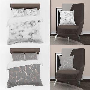 3D-Photo-Print-Black-Marble-Designs-Digital-Duvet-Cover-amp-Cushion-Covers-Case