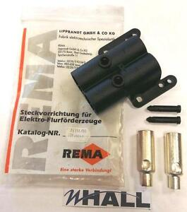 REMA Vehicle Socket B-type 76350 Jungheinrich Ameise inc. x2 main contacts 35mm2