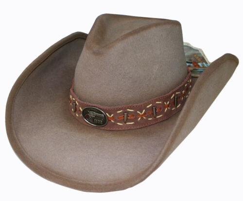 Western Cowboy Hat Wool felt Billy The Kidd  by Bullhide