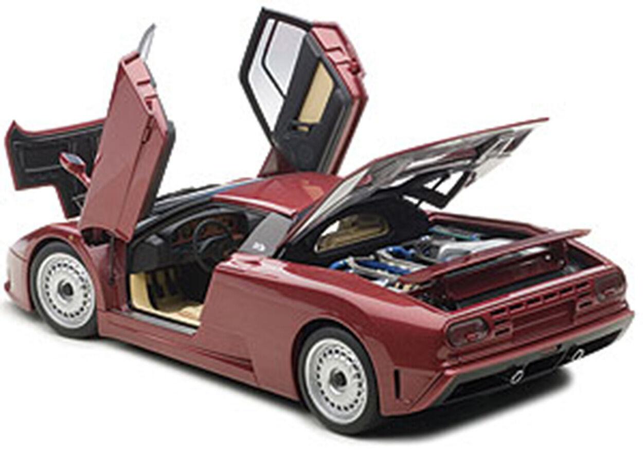 Autoart BUGATTI EB110 GT DARK rot Farbe in 1 18 Scale. New Release  In Stock