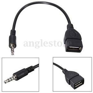 35mm male audio aux jack to usb 20 type a female otg converter image is loading 3 5mm male audio aux jack to usb publicscrutiny Choice Image