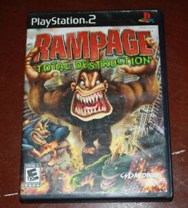 Ps2 Rampage Total Destruction Game Complete Free Shipping Ebay