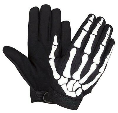 """EXTRA SMALL XS 6"""" Skeleton FINGERS gloves BONES Hand PAINTBALL AIRSOFT COSPLAY"""