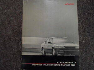 Details about 1987 Acura Legend Electrical Wiring Diagram Troubleshooting on