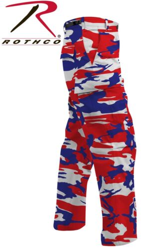 Red White /& Blue Camo BDU Pants 6-Pkt Military Poly//Cot Cargo Pant Rothco 1835
