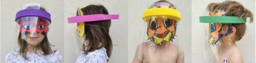 LOT DE 4 VISIÈRES DE PROTECTION FACEPROTECT ENFANT 3-5 ans