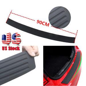 1PC-Accessories-Car-Rubber-Rear-Guard-Bumper-Protector-Trim-Cover-US-Shipping