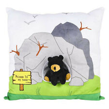 "Adventure Planet Black Bear Super-Soft 13"" Plush Pillow"