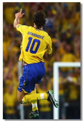 Zlatan Ibrahimovic Football Soccer Star Art Wall Cloth Poster Print 521