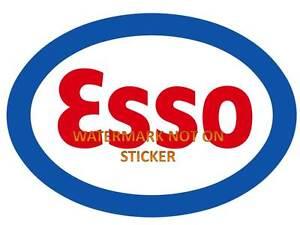 VINTAGE-ESSO-GASOLINE-PETROL-DECAL-STICKER-LABEL-LARGE-240mm-DIA-HOT-ROD