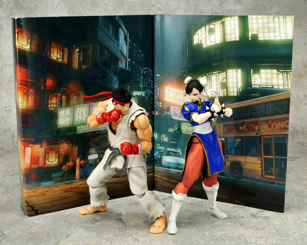 2018 neue pla shf street fighter no.01 02 ryu vs chun-li in kisten kostenlos versand