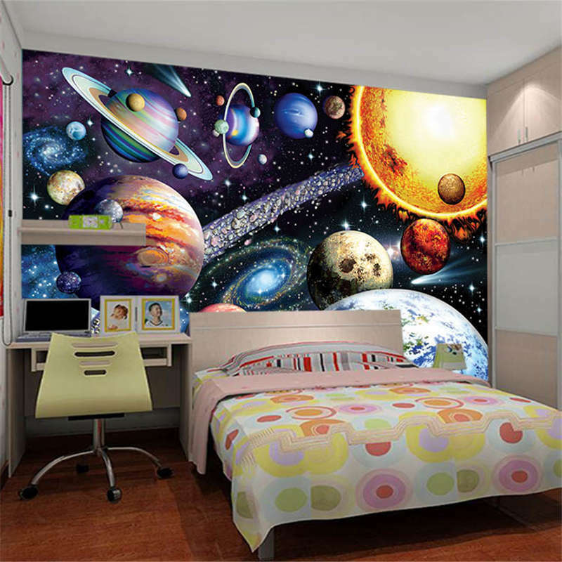 Die riesigen Galaxie mit einer Anzahl von Planeten 3D Tape Voll Wandgemälde Foto Tape 3D 8a9ffe