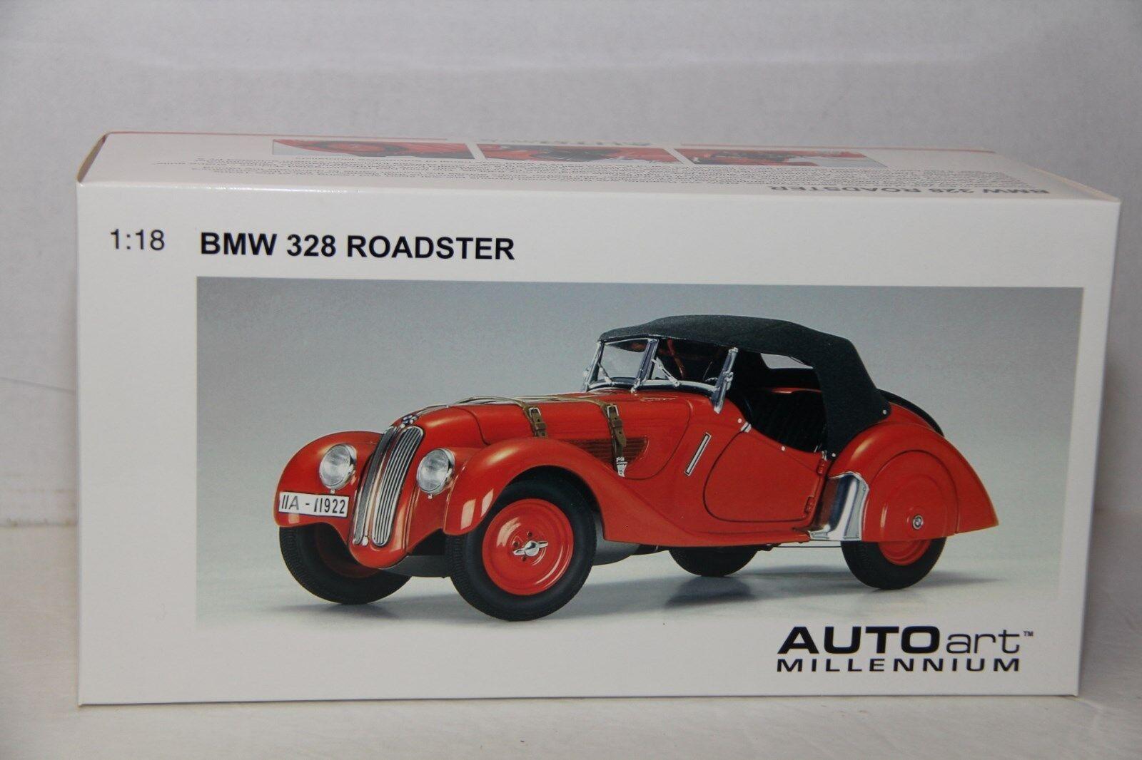 1 18 AUTOART 1938 BMW 328 ROADSTER , rot , NEW , 70582