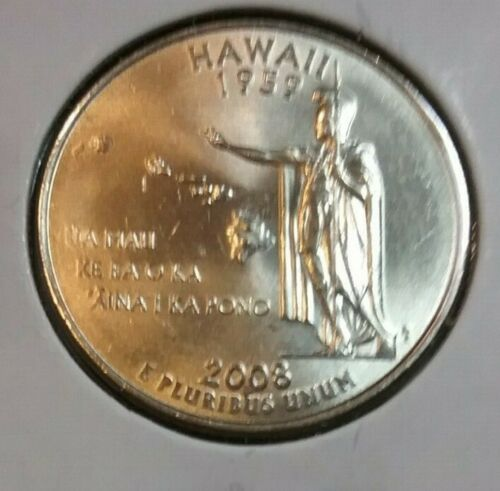 2008 Hawaii P State Quarter Roll From Bag Mint or Bank Uncirculated BU