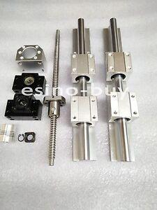 2x SBR20--1100mm Linear Rail/&RM2005--1100 mm Ballscrew /&BF15//BK15 /&  Coupling