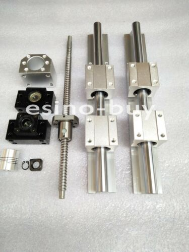 2x SBR20--700mm Linear Rail/&RM1605--750mm Ballscrew /&BF12//BK12 /&  Coupling