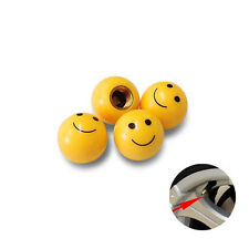 Smile Car Wheel Air Tyre Valve Dust Caps Covers Accessories Set of 4
