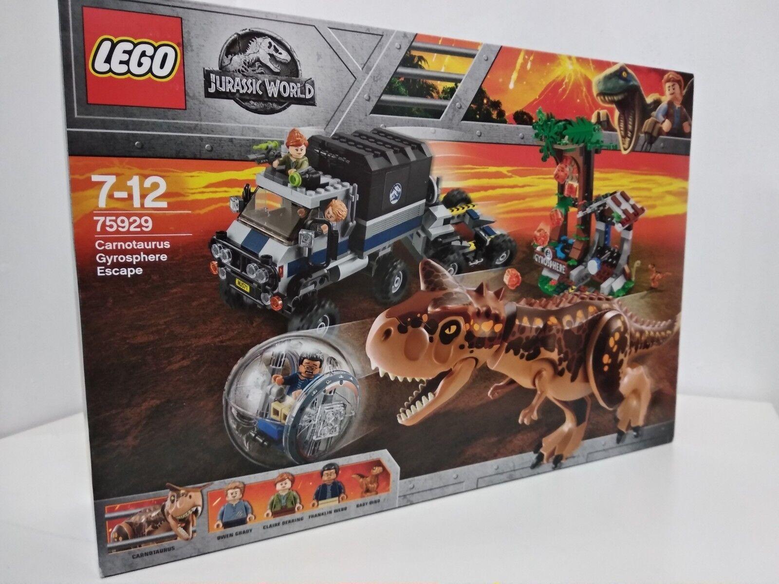 Lego  Jurassic World voiturenotaurus gyrosphere Escape 2018 (75929) non ouvert  grande remise