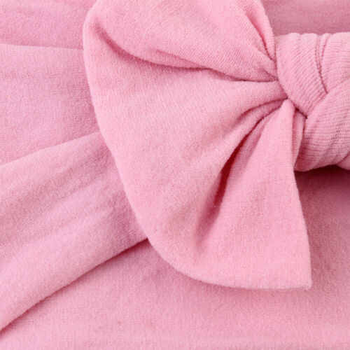 1pcs Toddler Girls Baby Turban Solid Headband Hair Band Bow Accessories Hairband