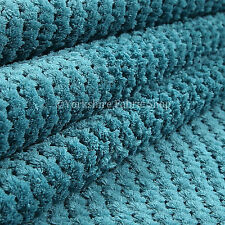 Plain Teal New Soft Texture Plush Corduroy Quality Durable Upholstery Fabric