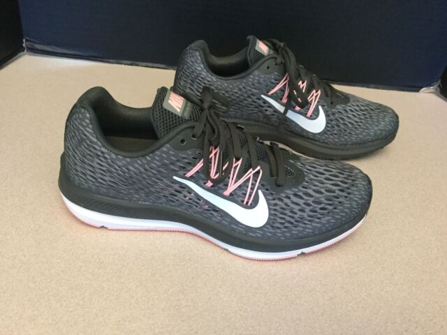 Atomic Pink Nike Air Zoom Winflo 2 Nike Zoom Winflo Womens 684490-007 Grey Lime Pink Running Shoes ...