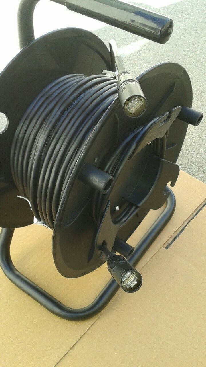 300 FT PRO CAT5e Tactical Shielded w Neutrik Ethercon RJ45 Digital Cable on reel
