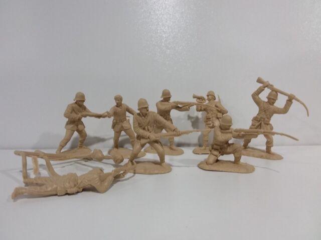 Conte Zulu Wars British 24th Foot 8 Figures Set #3 New Unplayed 1/32 54mm