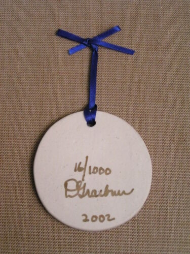 2002 Diane Graebner Amish Boy Ice Skating Signed Porcelain Christmas Ornament