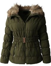 fe66885e724e item 1 Womens PADDING JACKET FUR LINED Coat Quilted Insulated Puffer Winter  Parka Belt -Womens PADDING JACKET FUR LINED Coat Quilted Insulated Puffer  Winter ...