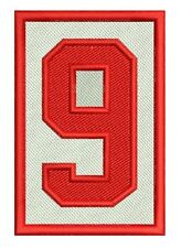 """DETROIT RED WINGS GORDIE HOWE PATCH MEMORIAL #9 NHL AWAY JERSEY VERSION 2"""" X 3"""""""