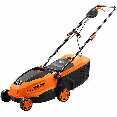 VonHaus Electric Rotary Garden Lawnmower 32cm 30L 1200W Inc 3 Grass Cut Settings