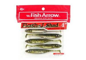 Fish Arrow Soft Lure Flash J Shad 4 Inch 6 Piece per pack #02 (2243)