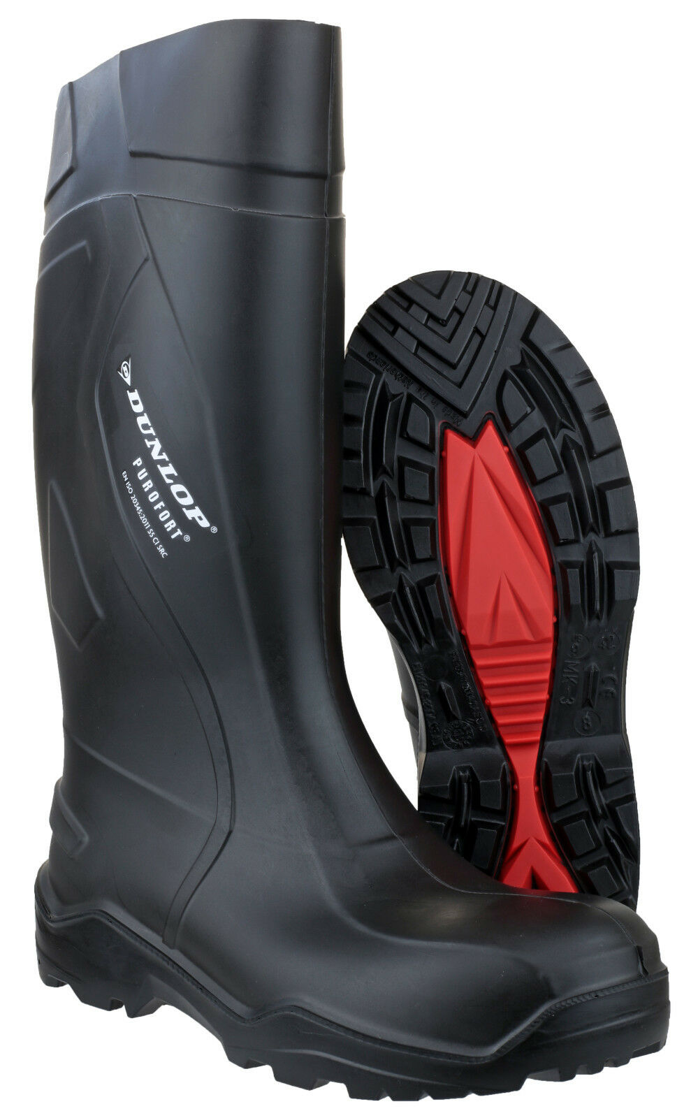 Dunlop Purofort+ Safety Waterproof Mens Work Pull On Wellingtons Boots UK6-14