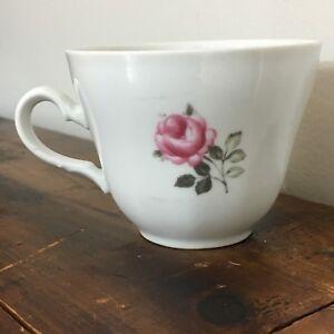 Winterling-tea-cup-Roslau-Bavaria-porcelain-pink-gray-rose-floral