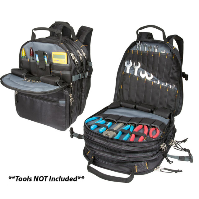 Tool Backpack Electrician Bag Technician Organizer 75 Pocket HVAC Tech Mechanic